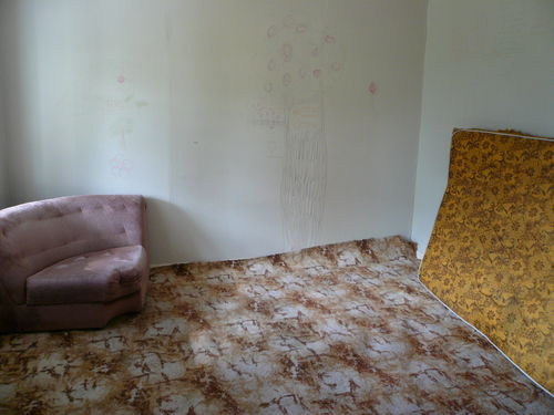 photo of old furniture and carpet in bedroom
