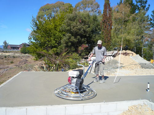 concrete being polished