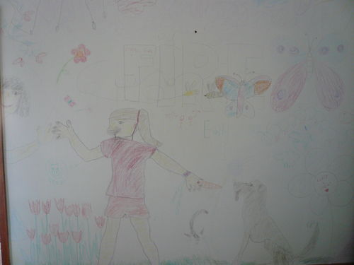 Emilys Drawing on the Walls