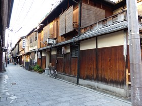 back street in Gion area