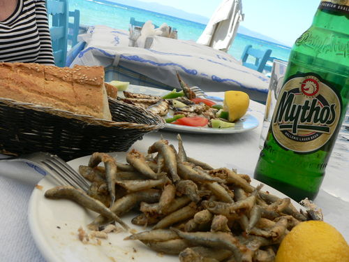 sardines and whitebait for lunch