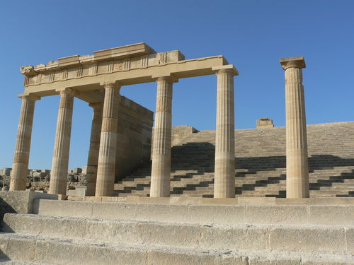 columns of Acropolis at Lindos