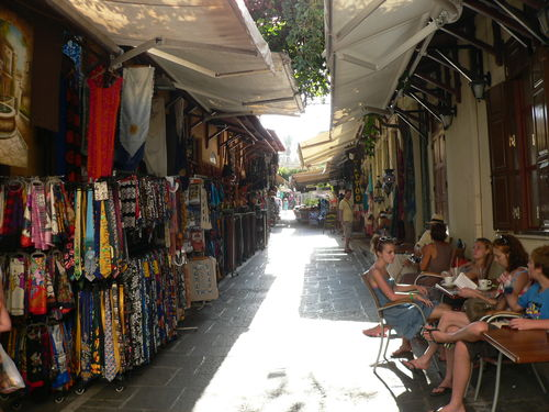 shops in Rhodes old town