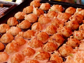 octopus balls being cooked