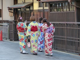Girls in Kimonos